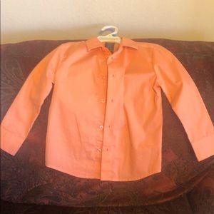 Boy's coral button down shirt by Nautical